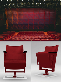 """PARCO THEATER Seat (for One) by intentionallies' Tei Shuwa,"" PARCO Theater memorial seat with number plate"