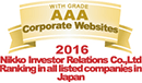 2016 Nikko Investor Relations Co.,Ltd Ranking in all listed companies in Japan