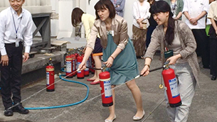 Fire extinguisher training drill