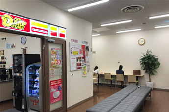Nagoya PARCO employee break room and staff-only convenience store