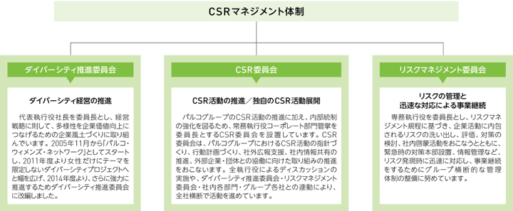 CSR management structure